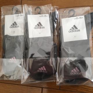 アディダス(adidas)のアディダス ソックス  3足セット 新品未使用(ソックス)
