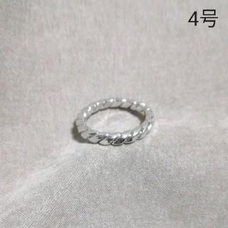 【Z21】ピンキーリング silver*4号* (リング(指輪))