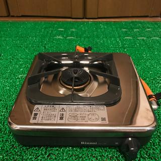 リンナイ(Rinnai)のリンナイ ガス一口コンロ プロパンガス用  ゴム管35㎝付き(調理機器)