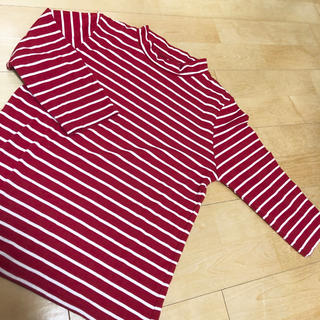 ジーユー(GU)のボーダー ネック Tシャツ(Tシャツ(長袖/七分))
