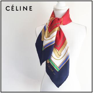 セリーヌ(celine)のCELINE ◆ スカーフ 80s-90s ヴィンテージ ◆ 訳あり(バンダナ/スカーフ)