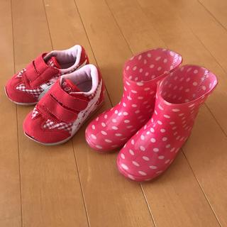 アシックス(asics)の★うに様専用★ベビー靴 長靴 甚平 セット☆13㎝(長靴/レインシューズ)