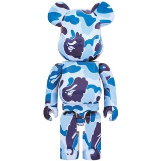A BATHING APE - 送込 BAPE BE@RBRICK ABC CAMO 1000% BLUE