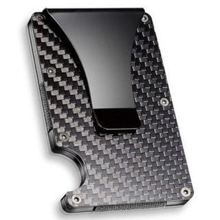 マネークリップ カードケース カーボン RFID 磁気スキミング防止(マネークリップ)