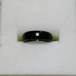 オニキス 指輪 17.5号 B上4 天然石 アゲート リング(リング(指輪))