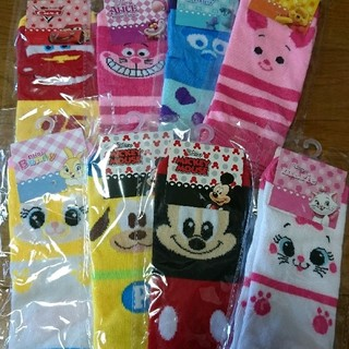 ディズニー(Disney)の新品ディズニー靴下 21-24㎝☆8足セット  レディース/キッズ/ジュニア(靴下/タイツ)