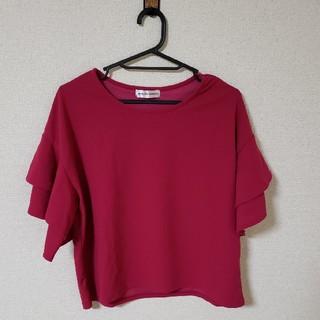 シマムラ(しまむら)のフリルTシャツ(Tシャツ(半袖/袖なし))