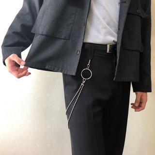 【トレンド】 2連ボールウォレットチェーン  真鍮素材日本製 高品質  (ウォレットチェーン)