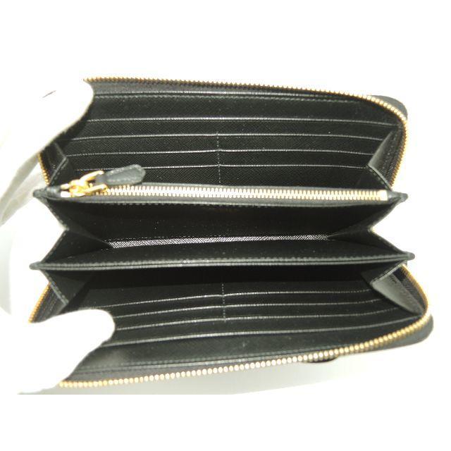 530af196f622 PRADA(プラダ)のプラダ ロングウォレット リボン サフィアーノ黒 ラウンドジップ長財布 新品