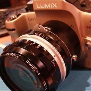 ニコン(Nikon)のニコン単焦点レンズNIKKOR-H  AUTO  f3.5  28mm(レンズ(単焦点))