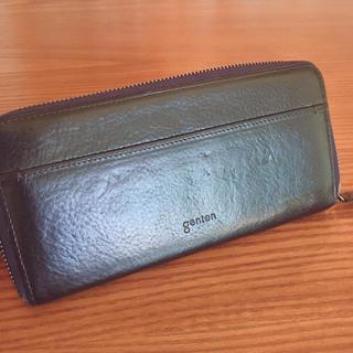 ゲンテン(genten)のgenten トスカ 長財布 ネイビー(財布)