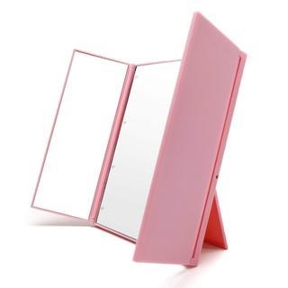 ★大人気★ 女優ミラー 卓上 スタンドミラー LED 化粧鏡 三面鏡 (卓上ミラー)