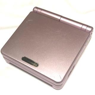 ゲームボーイアドバンス(ゲームボーイアドバンス)のゲームボーイアドバンスSP ピンク(携帯用ゲーム本体)