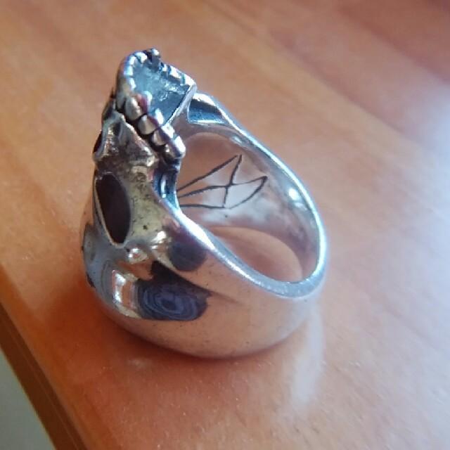 CRAZY PIG(クレイジーピッグ)のクレイジーピッグエビルスカルリングラージ メンズのアクセサリー(リング(指輪))の商品写真