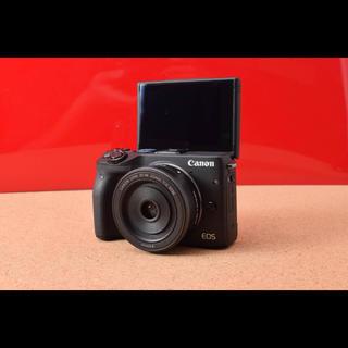 キヤノン(Canon)のCanon キャノンM3 単焦点レンズキット!選べるバック Wi-Fi 3-23(ミラーレス一眼)