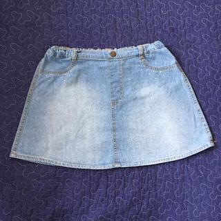 ジーユー(GU)のGU 女児 デニムスカート 140cm(スカート)