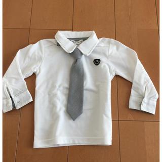ニシマツヤ(西松屋)のキッズ ベビー フォーマル シャツ 95センチ ネクタイ取り外し(ドレス/フォーマル)