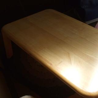 折りたたみ式 ちゃぶ台 白木 USED(折たたみテーブル)