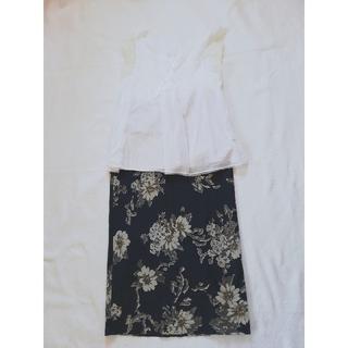 フォーティーファイブアールピーエム(45rpm)の45rpm 花柄染めタイトスカート(ロングスカート)