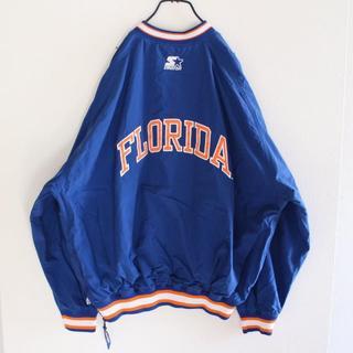 ナイキ(NIKE)のUS スターター FLORIDA プルオーバー ナイロン ジャケット 青 XL(ナイロンジャケット)