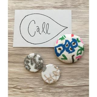mina perhonen - ミナペルホネン くるみボタン & call カード