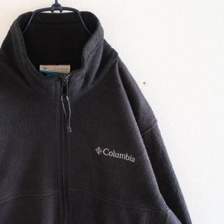コロンビア(Columbia)のUS コロンビア 黒 ジップ フリース ジャケット S(ブルゾン)