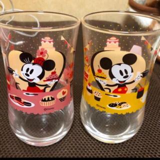ディズニー(Disney)の 非売品 ディズニーキャラクターグラス ミッキー ミニー(グラス/カップ)