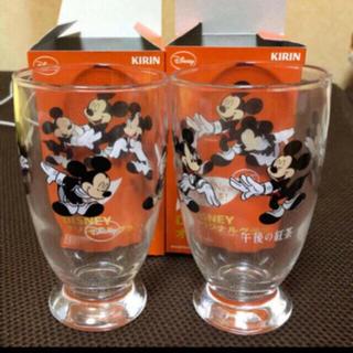 ディズニー(Disney)の非売品 ミッキー キャラクターグラス2個セット ディズニー(グラス/カップ)