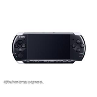 プレイステーションポータブル(PlayStation Portable)のPSP3000 ピアノ・ブラック本体+8GBメモリースティック付き!(携帯用ゲーム本体)