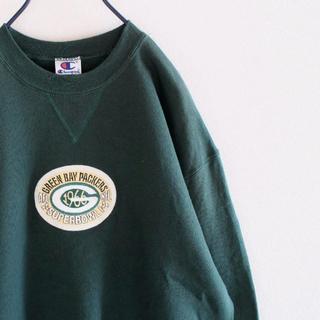チャンピオン(Champion)のUSA製 チャンピオン グリーンベイ NFL スウェット 深緑 L(スウェット)