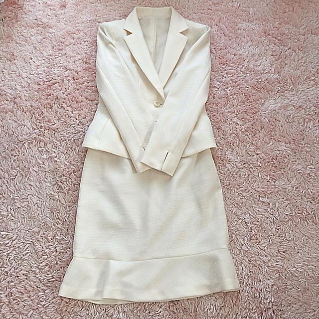しまむら(シマムラ)の+゚。*フォーマル カジュアル スーツ 13号 3点セット ホワイト*。゚+ レディースのフォーマル/ドレス(スーツ)の商品写真