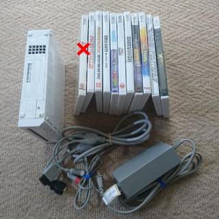 ウィー(Wii)のwii北米版(USA)    ソフトいろいろ (家庭用ゲーム本体)