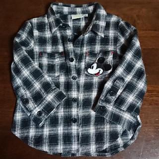 ディズニー(Disney)のミッキー チェックシャツ(シャツ/カットソー)