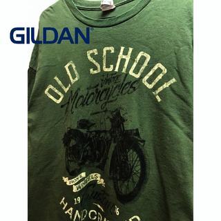 ギルタン(GILDAN)のオールド・スクール モーターサイクル Tシャツ(Tシャツ/カットソー(半袖/袖なし))