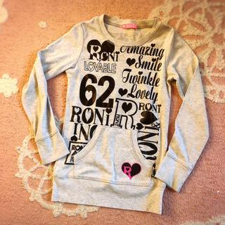 ロニィ(RONI)のRONI ロンT ライトグレー ロゴ入り(Tシャツ/カットソー)