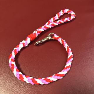 6つ編みパラコードショートリード約60cm(リード/首輪)