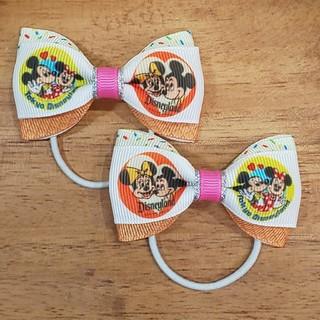 ディズニー(Disney)のミキミニ♡ハンドメイドリボン♡(ヘアアクセサリー)