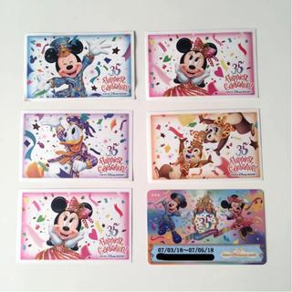 ディズニー(Disney)のディズニー 35周年 使用済チケット ホテルカードキー(遊園地/テーマパーク)