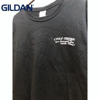 ギルタン(GILDAN)のテキサス州 デントン バイクショップ Tシャツ ホンダ カワサキ スズキ(Tシャツ/カットソー(半袖/袖なし))