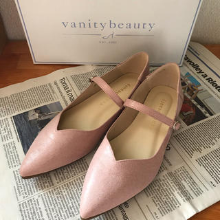 バニティービューティー(vanitybeauty)のニャりん様専用  Vanity Beauty   Vカットストラップバブーシュ (ハイヒール/パンプス)