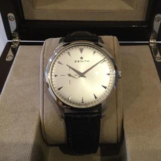 ゼニス(ZENITH)のゼニス エリート ウルトラシン 国内正規品  美品(腕時計(アナログ))