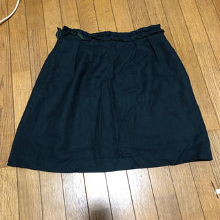 デミルクスビームス(Demi-Luxe BEAMS)のLAPIS LUCE PER BEAMSグリーンスカート(ひざ丈スカート)