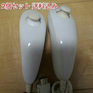 ウィー(Wii)のC wii ヌンチャク 2個セット(家庭用ゲーム本体)