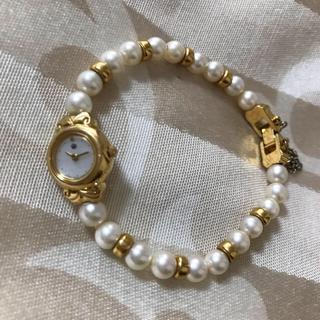 ミキモト(MIKIMOTO)のタイムセール!ミキモト 本真珠 ブレスレット ウォッチ(腕時計)