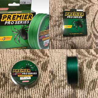 PEライン 100m グリーン 15LB ルアー ライン 4編(釣り糸/ライン)