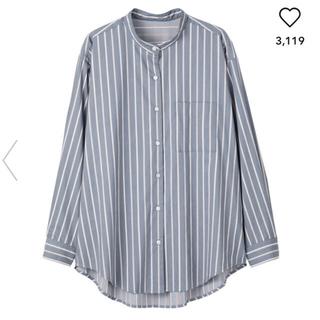 GU - GU ストライプバンドカラーシャツ