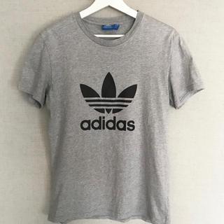 アディダス(adidas)のアディダスオリジナルス Tシャツ メンズ グレー トレフォイル ビッグロゴ (Tシャツ/カットソー(半袖/袖なし))