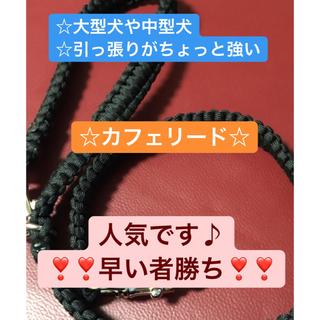 芯が4本の全部平編み☆全長80cm カフェリード☆(リード/首輪)