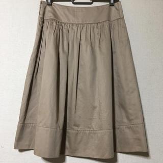 アマカ(AMACA)のAMACA  素敵な光沢タックフレアースカート  36(ひざ丈スカート)