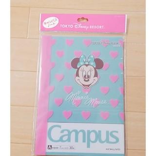 ディズニー(Disney)のディズニー ミニー キャンパスノート(カバーつき)(その他)